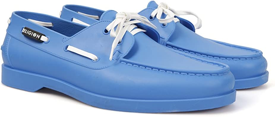 Rubber Boat Shoes, Bright Blue