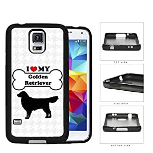 I Love My Dog Series Silicone Cell Phone Case Cover Samsung Galaxy s5 sV SM-G900 (Golden Retriever)