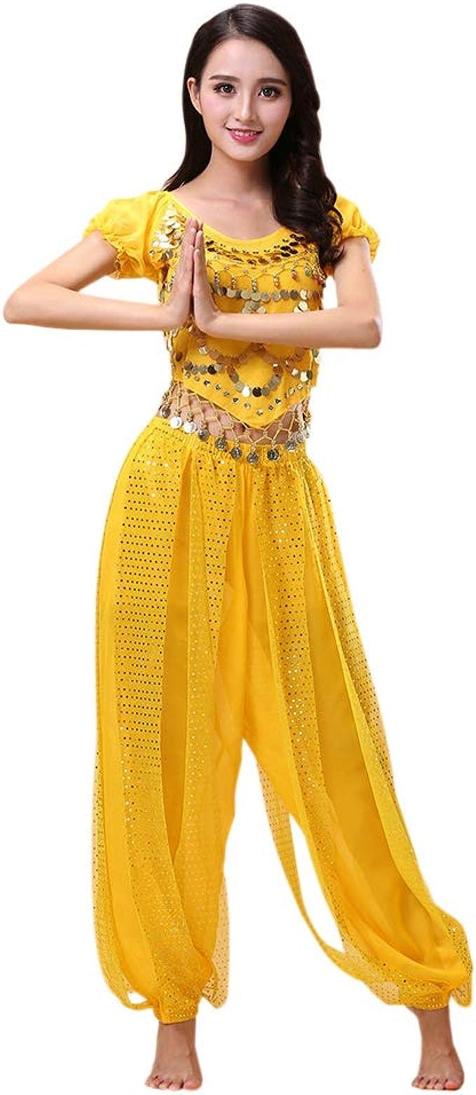 Hzjundasi Mujer Disfraz de Danza del Vientre Set - Bailando Top + ...