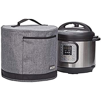 HOMEST Dust Cover with Pocket Compatible with Instant Pot 3 Quart, These Pressure Cooker Cover Have Wipe Clean Liner for Easy Cleaning, 3 Cover Sizes, Grey