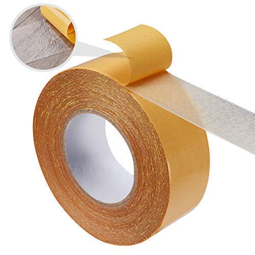 Double Sided Carpet Tape, 2 inches X 100ft Roll, for Rugs, Mats, Pads, Runners, No Residue, Extra Strong Hold ON Any - Craft Rug Runner