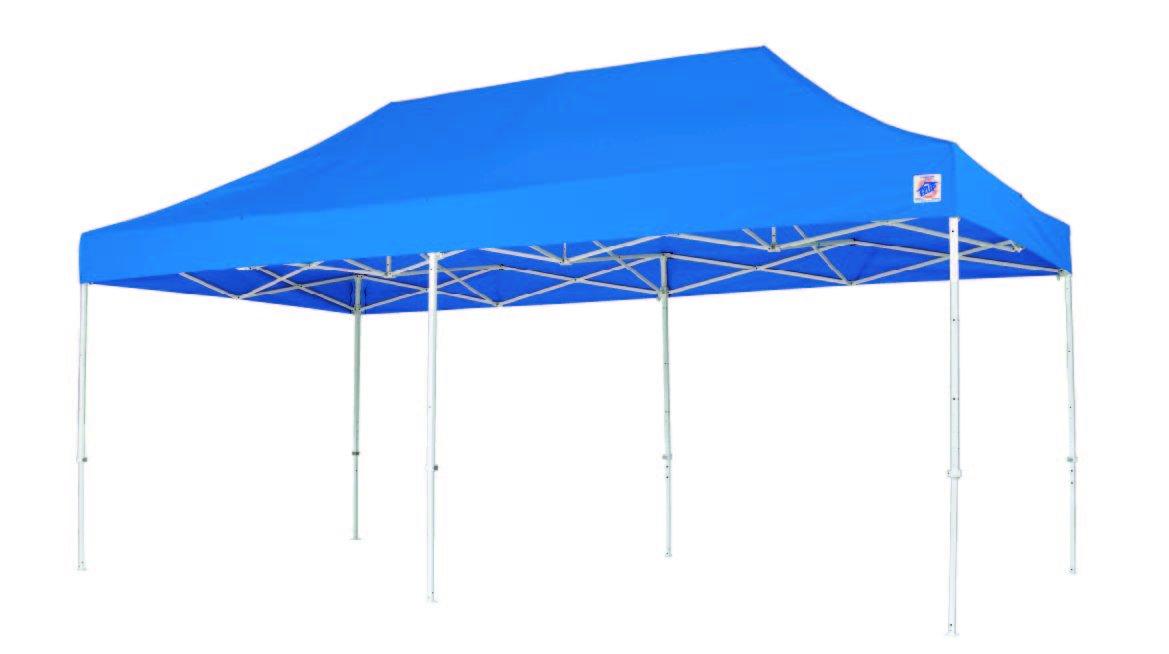 イージーアップテント デラックス(スチール)3.0m×3.0m DX30 B00AMXI3ZY  ブルー 300×450cm