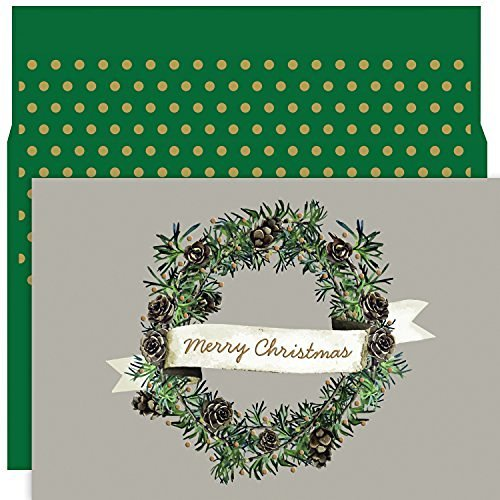 Christmas Wreath, 18 Cards