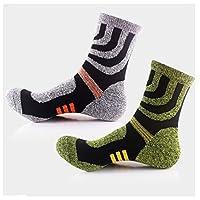 Mens Cotton-Blend Geometric Hiking Medium Crew Socks,2-Pack