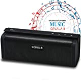Super sound Bluetooth Speaker GEVALA Portable Waterproof Wireless Speakers Designed to Offer Loud Deep Bass Clean Sound , Perfect For Your Cellphone Computer and Tablet