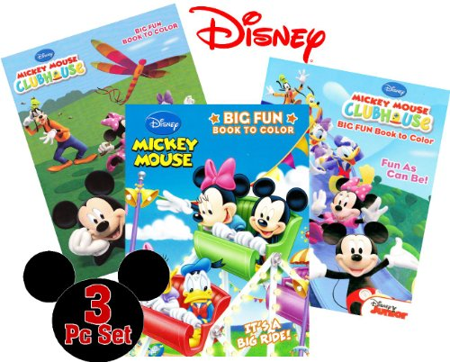 Mickey Mouse Clubhouse Coloring and Activity Book Set (3 Books ~ 96 pgs each)