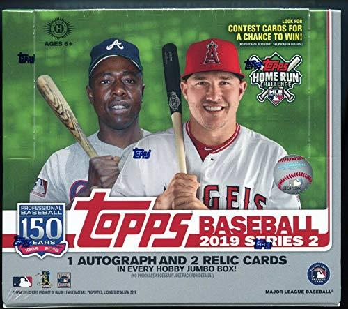 2019 Topps Series 2 Baseball Jumbo Box 2 Silver Packs (10 Packs/46 Cards) ()