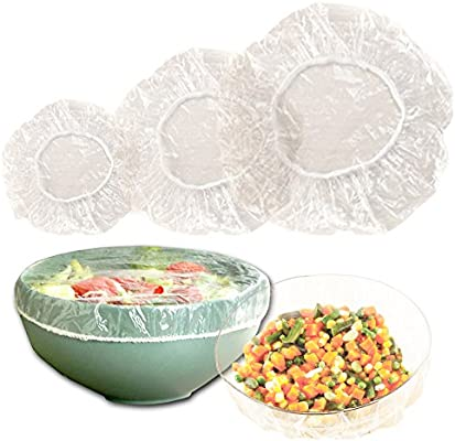 Garden-Outdoor Set of 50 Fitted Bowl Covers talla unica Se ajusta a todos translucent