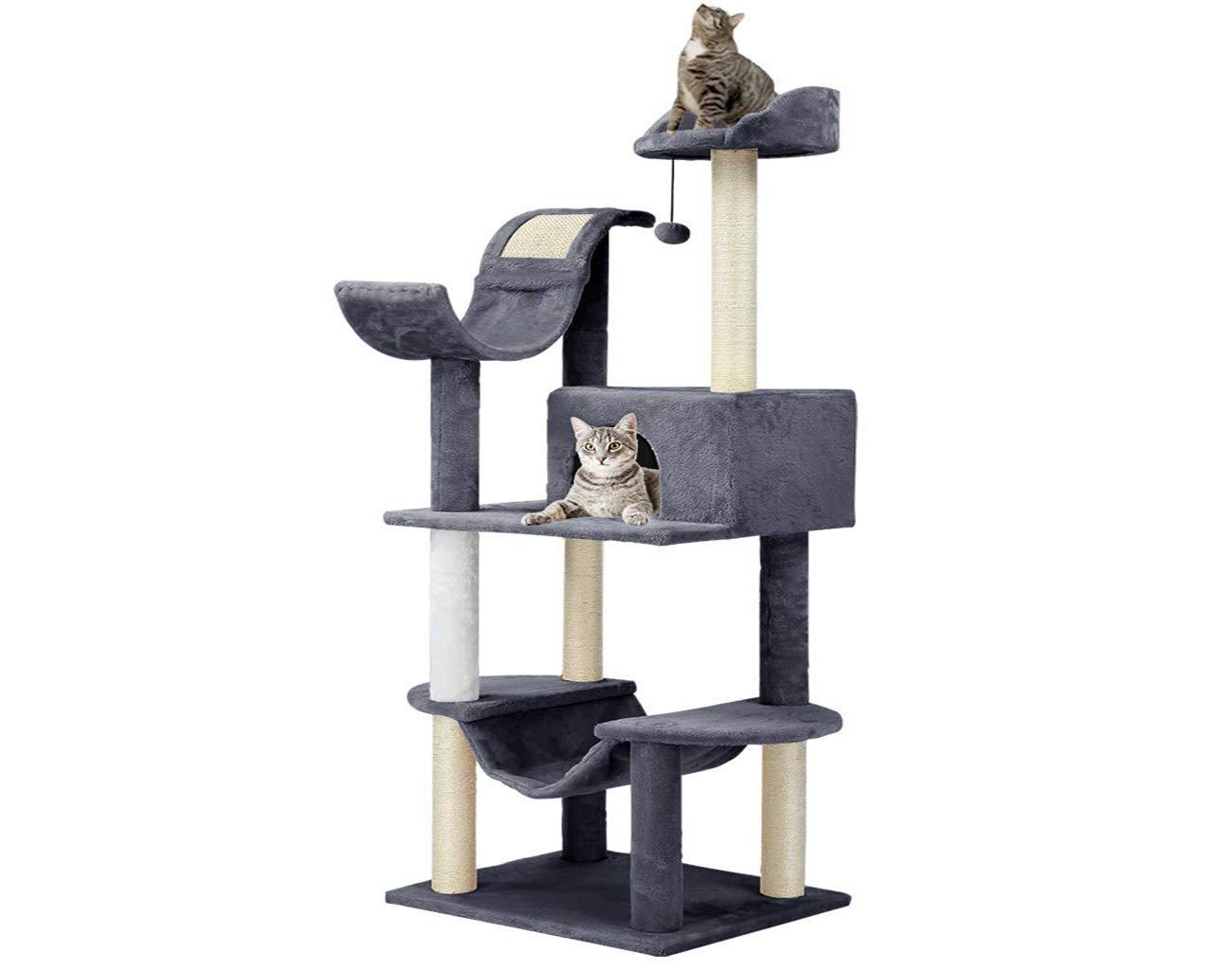 Finether Árbol para Gatos Rascador para Gatos con Nidos Juguete ...