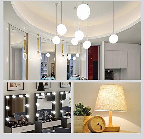 - E26//E27 Base LED Candelabra Bulbs Daylight White 6000K 900LM for Ceiling Fan Decorative Lighting LXcom 9W LED Bulb G45 Globe LED Light Bulb 80W Equivalent 6 Pack AC85-265V