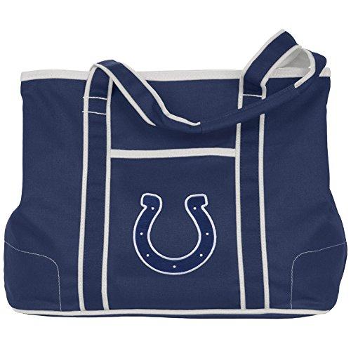 NFL Indianapolis Colts Ladies Royal Blue Hampton Canvas Tote Bag by Football Fanatics