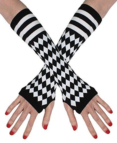 Jester Fingerless Gloves Adult Halloween Costume Accessory