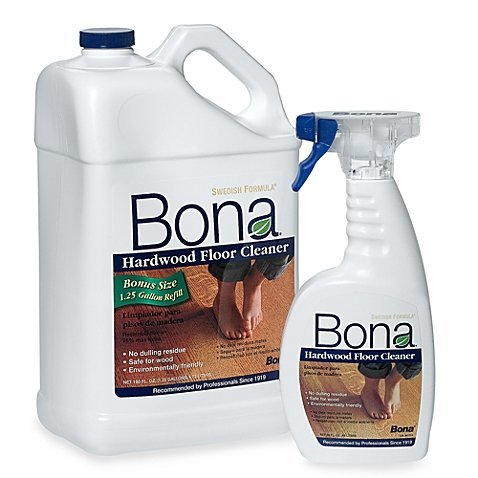 Hardwood Floor Bottle (Bona 160 oz. Hardwood Floor Cleaner Refill with 22 oz. Bonus Spray)