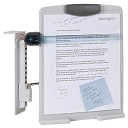 Kensington Premium CRT Monitor View Clip, Adjustable Ergonomic Copyholder (K62066F)