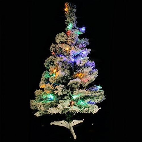 Wideskall Tabletop Artificial Snow Flocked Green Christmas