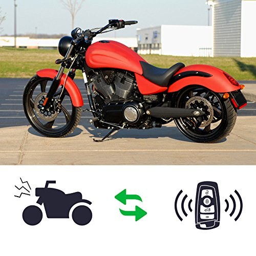 Rupse Waterproof Motorcycle Remote Control Alarm Warner Anti-Theft Security Burglar Alarm System
