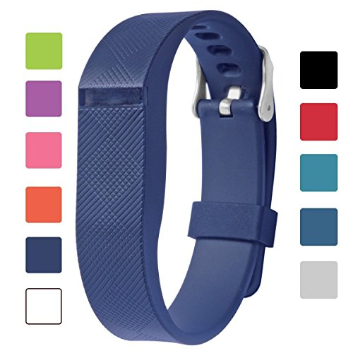 Fitbit Flex Adjustable Wristband - Fitbit Flex Silicone Replacement Secure Band with Chrome Watch Clasp and Fastener Buckle - Fix the Tracker Fall Off Problem (Blue x 1)