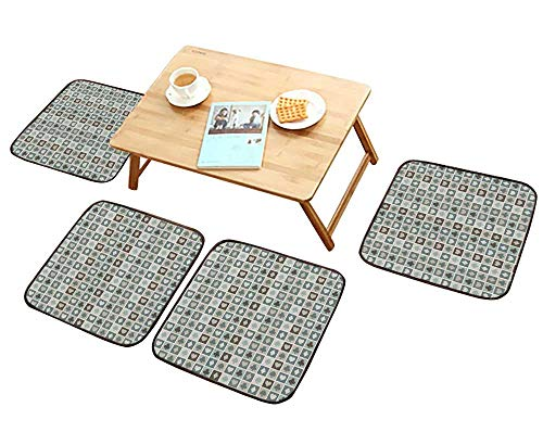 - HuaWu-home Fillet Chair Cushion Seamless of Card Suits he s Diamonds Clubs Suitable for The Chair W13.5 x L13.5/4PCS Set