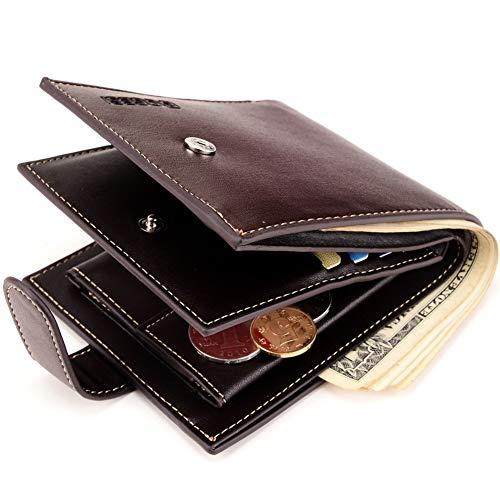 Godwin Size Brown Jeffrey color De Corto Billetera Bolso Hombre S Pu Black Moda Monedero 4nP6qdnx