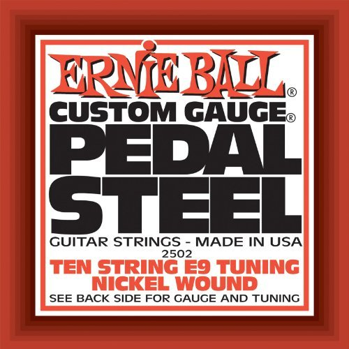 Ernie Ball Pedal Steel Nickel Wound 10-String Set, E9 Tuning -