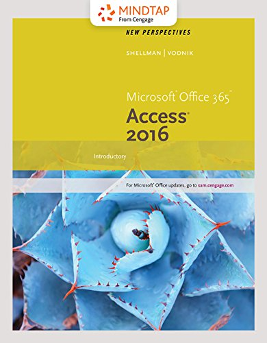 MindTap Computing, 2 terms (12 months) Printed Access Card for Shellman/Vodnik's New Perspectives Microsoft Office 365 & Access 2016: Comprehensive by Cengage Learning