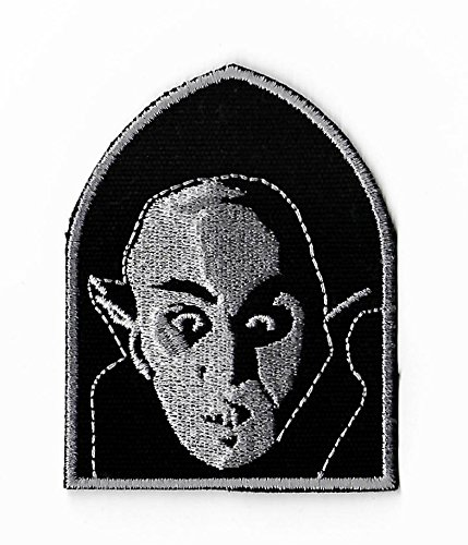 Count Orlock Patch DIY Embroidered Iron or Sew on Badge Applique Horror Movie Vampire Souvenir Nosferatu Dracula Costume Retro Vamp ()