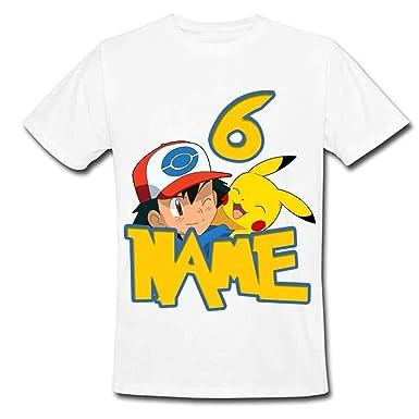 ef541a21 Sprinklecart Pokemon Inspired T Shirt | Pikachu| Ash Ketchum | Custom Name  Printed 6 Birthday