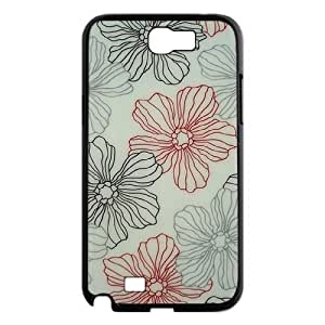 Pink Floral Use Your Own Image Phone Case for Samsung Galaxy Note 2 N7100,customized case cover ygtg570456