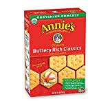 Annie's Organic Buttery Rich Classic, Baked Snack Crackers, 6.5 oz (Pack of 6)