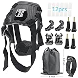 RayHom Pet Dog Harness Chest Mount for Gopro HERO 5/4/3/3+/2/1 Black Silver Session and SJ4000 SJ5000 SJ6000 Sports Camera Accessories Kit (23 Items)