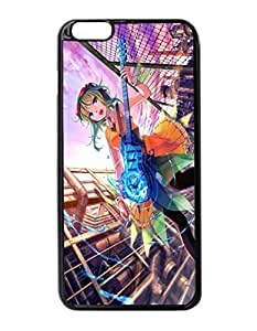 Anime Girl Guitar Music Art Durable Unique Design Hard Back Case Cover For iPhone 6 Plus - 5.5 by supermalls