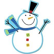 Creative Teaching Press 6-Inch Designer Cut-Outs, Snowman (5888)