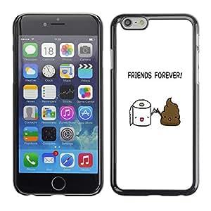 A-type Arte & diseño plástico duro Fundas Cover Cubre Hard Case Cover para Apple (4.7 inches!!!) iPhone 6 / 6S (Divertido - aseo Poop Amigos)
