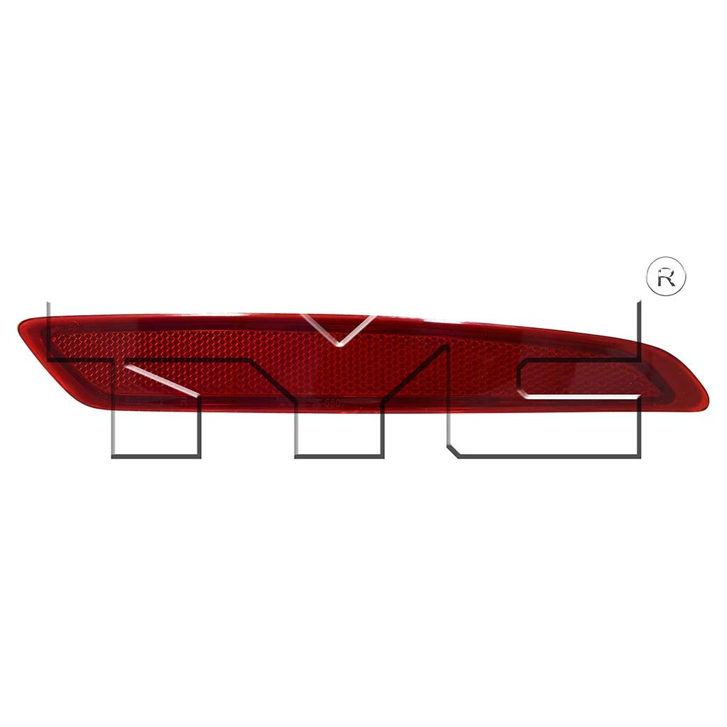 Fits 2014-2018 Ford Fiesta Passenger Side Rear Bumper Reflector NSF Certified With Bulbs Included FO1185108 - Replaces BS7Z 13A565 A ;Sedan