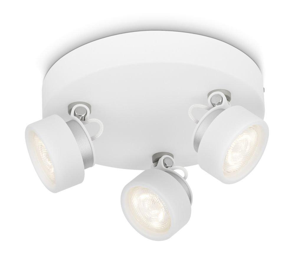 Philips myLiving Rimus LED Aufbauspots, EEK A+, 3-flammig, weiß 532793116
