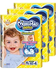 MamyPoko Standard Pants, XL, 40 + 4 Count, (Pack of 3)