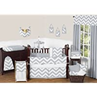 Sweet Jojo Designs Gray and White Chevron ZigZag Gender Neutral Baby Bedding ...