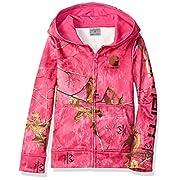 Carhartt Girls' Long Sleeve Sweatshirt, Realtree Leaf Xtra Pink, 6 Months