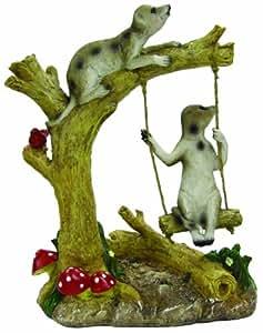 Coleccionable de suricata en Swing adorno de jardín