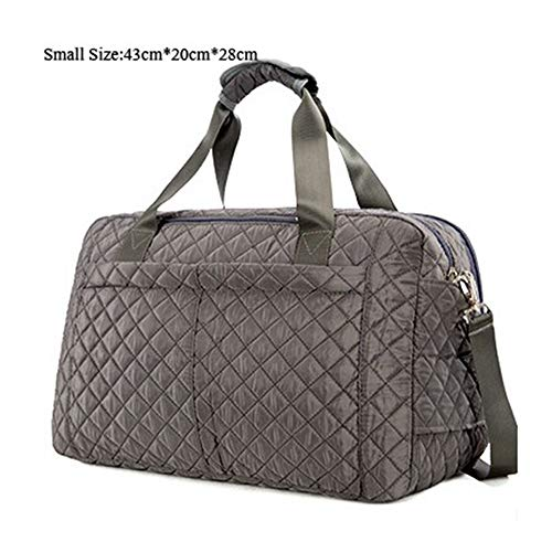 (Large Capacity Women Travel Bags Men's Handbag Casual Shoulder Luggage Bag Female Hand Travel Tote Bag,gray small size)