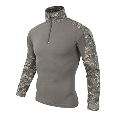 JUNSHIFU Camisa de Combate Militar del ejército de Multicam ...