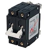 AMRB-7365 * Blue Sea C-Series White Toggle Circuit Breaker - Double Pole - 30 AMP