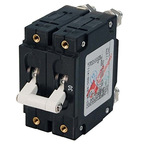 AMRB-7251 * Blue Sea C-Series White Toggle Circuit Breaker - Double Pole - 50 AMP by Blue Sea Systems