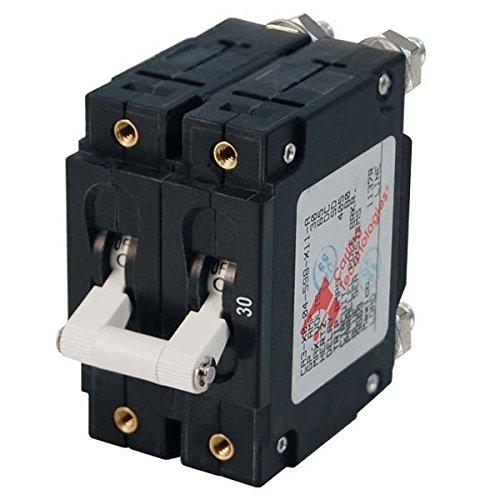 AMRB-7258 * Blue Sea C-Series White Toggle Circuit Breaker - Double Pole - 100 AMP ()