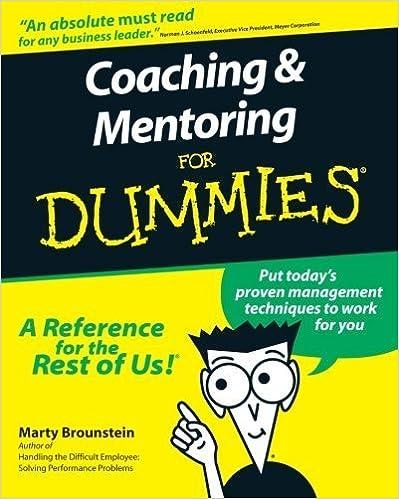 Téléchargez des livres pdf gratuits Coaching & Mentoring for Dummies by Marty Brounstein (2000-05-01) B017POOJFU PDF FB2