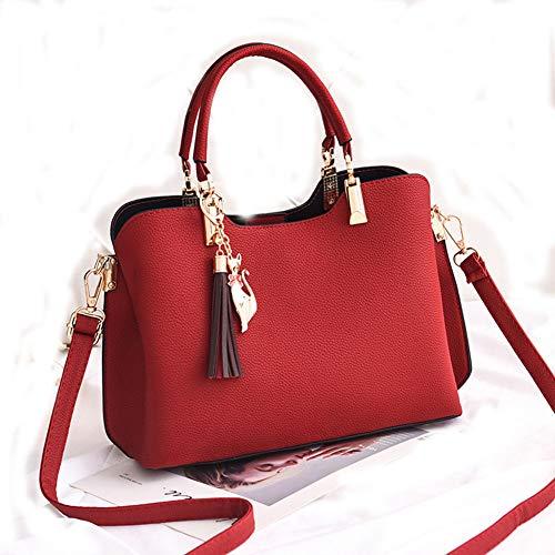 Borsa Messenger A hlh Rosso Casuale rosa Donna Grande Da Tracolla Vino pqE6pSxHwr