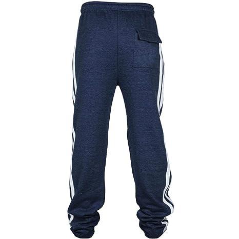 ♚ Pantalón Deportivo para Hombre, Pantalones de chándal con Cordones Sueltos Ocasionales de la Aptitud del Deporte de la Moda Que activan Absolute: ...