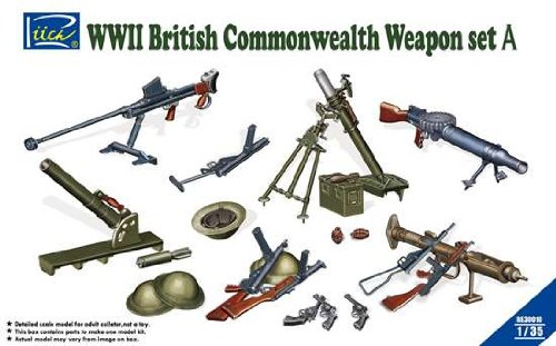 Riich Models WWII British Commonwealth Weapon Set A 1:35 Scale Military Model Kit