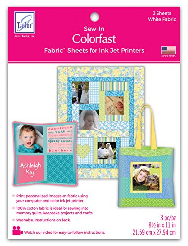 - June Tailor Colorfast White Printer Fabric (3 Pack)