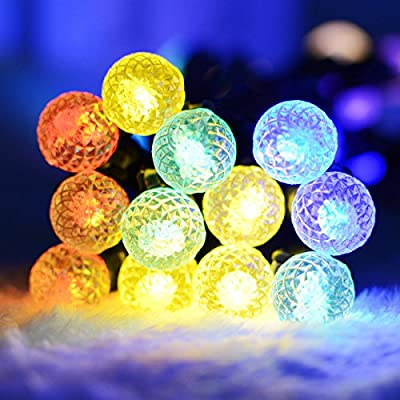 Vmanoo G12 Battery Operated String Lights 50 LED Fairy Christmas Lighting Decor Timer For Outdoor Indoor Garden Patio Lawn Holiday Decorations (Multi Color)